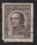 Stamps Argentina -  Justo José de Urquiza (1801-1870)