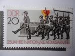 Stamps Germany -  DDR-25 Jahre Nationale Volksarmee.