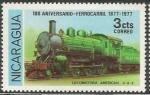 Stamps Nicaragua -  Locomotora American