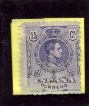 Stamps Spain -  Alfonso XIII. Tipo Medallon