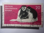 Stamps Germany -  100 Jahre  Dresdener Zoo 1861-1961.