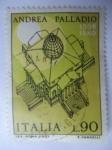 Stamps Italy -  Arquitecto: Andrea Palladio. 1508-1580