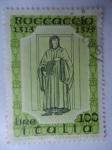 Stamps Italy -  Boccaccio 1313-1375.