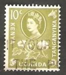 Stamps Kenya -   106 - Elizabeth II, algodón