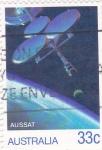 Sellos de Oceania - Australia -  aeronautica-AUSSAT