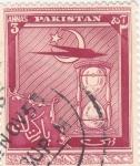 Sellos de Asia - Pakistán -  reloj de arena