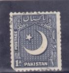 Stamps Pakistan -  luna creciente