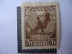 Stamps Russia -  1 aniversario de la revolución - Cortando las Cadenas de Bondabe.