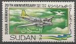 Stamps Sudan -  20th  ANIVERSARIO  DE  LA  LÌNEA  AÈREA  DE  SUDAN.  DE  HAVILLAND  DOVE.