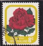 Sellos del Mundo : Oceania : Nueva_Zelanda : flores-rosa roja