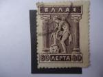 Stamps Greece -  Hermes (Calzándose Sandalias)