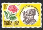 Stamps Asia - Malaysia -  puloh tahum merdeka
