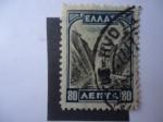 Stamps Greece -  Canal de Corinto.