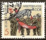Sellos del Mundo : Europa : Alemania :  35 años de combate Grupos de la clase obrera(DDR).