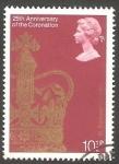 Sellos del Mundo : Europa : Reino_Unido :  865 - 25 Anivº de la coronación de su Majestad Elizabeth II