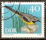 Sellos de Europa - Alemania -   Conservación, pájaros cantores, lavandera gris (DDR).