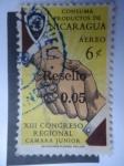 Stamps of the world : Nicaragua :  XIII Congreso Regional Camara Junior - Consuma Productos de Nicaragua.