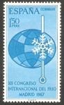 Stamps Spain -  1817 - Congreso internacional del frio