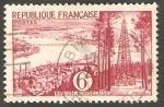 Sellos de Europa - Francia -  1036 - Pozos de petróleo de Parentis