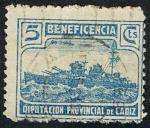 Stamps of the world : Spain :  BENEFICIENCIA DIPUTACION PROVINCIAL DE CADIZ