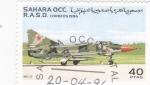 Stamps Morocco -  avión de combate- Mig-23