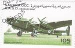 Stamps Morocco -  avión de combate- Handley-Page-Halifax