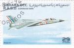 Sellos de Africa - Marruecos -  avión de combate- Mirage-G-8