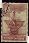 Sellos de Europa - España -  Descubrimiento de America. Nao Santa Maria