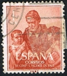 Stamps : Europe : Spain :  SAN VICENTE DE PAUL