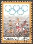 Sellos de Europa - Polonia -  1763 -50 Anivº del Comité olímpico polaco, Carrera