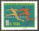 Sellos del Mundo : Europa : Polonia :  1534 - Europeo de atletísmo, Carrera de vallas