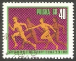Sellos del Mundo : Europa : Polonia :  1532 - Europeo de atletísmo, Carrera femenina de relevos