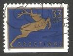 Sellos de America - Estados Unidos -  3001 a - Silueta de un ciervo