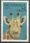 Stamps Nicaragua -  GIRAFA