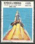 Stamps Honduras -  DESPEGUE  DE  COHETE