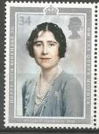 Stamps United Kingdom -  90 th  ANIVERSARIO  DE  LA  REINA  MADRE.  DUQUESA  DE  YORK.