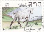 Sellos de Asia - Laos -  caballo