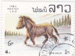 Stamps Laos -  caballo