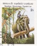 Sellos de Asia - Laos -  elefante