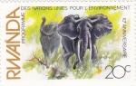Sellos de Africa - Rwanda -  elefantes