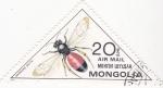 Sellos de Asia - Mongolia -  insecto- andrena scita
