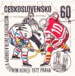 Stamps Czechoslovakia -  hockey Praga-72