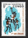 Stamps Democratic Republic of the Congo -  Basketball