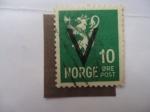 Sellos de Europa - Noruega -  León Heráldico -( V )-