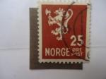 Sellos de Europa - Noruega -  León Heráldico -( S/197))