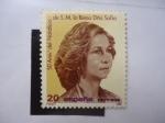Stamps Spain -  50 Aniversario de S.M. la Reina Doña Sofía.