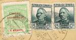 Stamps : Europe : Spain :  SELLO PROVINCIAL + REPUBLICA ESPAÑOLA