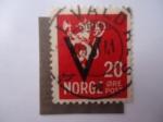 Sellos de Europa - Noruega -  León Heráldico - (S/228))