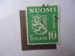 Stamps Finland -  Escudo.