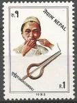 Sellos de Asia - Nepal -  INSTRUMENTOS  MUSICALES. MURCHUNGA.